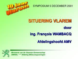 Ministerie van de Vlaamse Gemeenschap AMINAL  Afdeling Milieuvergunningen