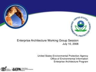 Enterprise Architecture Working Group Session July 10, 2008