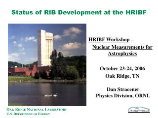 Status of RIB Development at the HRIBF