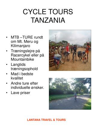 CYCLE TOURS TANZANIA