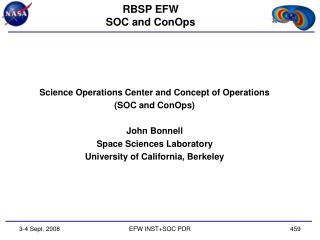 RBSP EFW SOC and ConOps