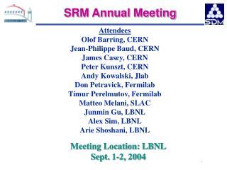 SRM Annual Meeting