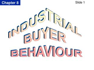 INDUSTRIAL  BUYER  BEHAVIOUR