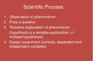 Scientific Process