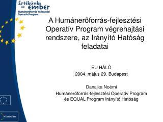 EU HÁLÓ 2004. május 29. Budapest Danajka Noémi