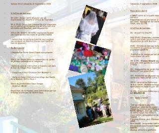 Samedi 20 et dimanche 21 Septembre 2008 A l'office de tourisme :