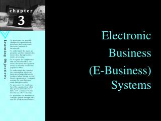Electronic Business (E-Business) Systems