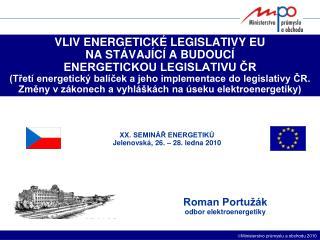 Roman Portužák odbor elektroenergetiky