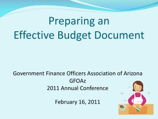 Preparing an Effective Budget Document