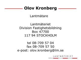 Olov Kronberg