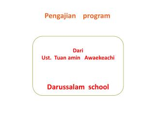 Pengajian     program