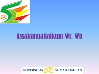 Assalamuallaikum Wr .  Wb