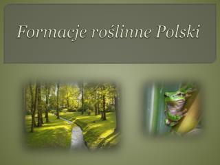 Formacje roślinne Polski