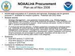 NOAALink Procurement Plan as of Nov 2008