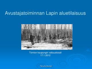 Avustajatoiminnan Lapin aluetilaisuus Tornion kaupungin valtuustosali 17.1.2012