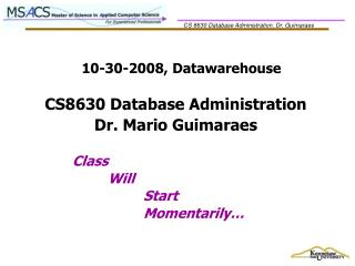 10-30-2008, Datawarehouse