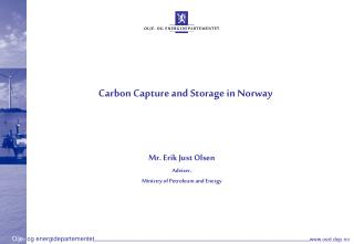 Carbon Capture and Storage in Norway