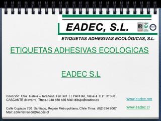 ETIQUETAS ADHESIVAS ECOLOGICAS