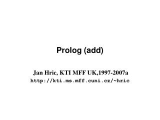 Prolog ( add )