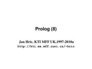 Prolog (8)