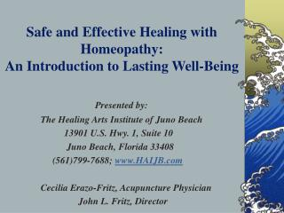 Safe and Effective Healing with Homeopathy: