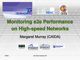 Monitoring e2e Performance on High-speed Networks