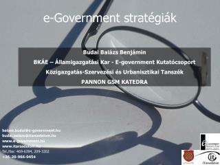 e-Government stratégiák