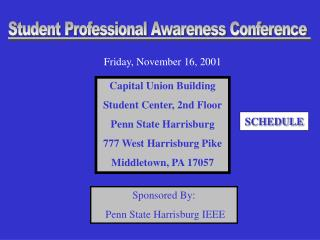 Sponsored By:  Penn State Harrisburg IEEE