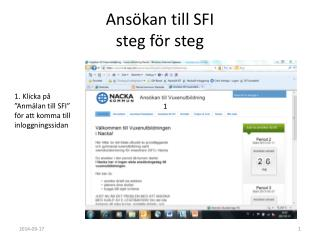 Ansökan till SFI steg för steg