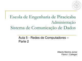 Escola de Engenharia de Piracicaba Administração Sistema de Comunicação de Dados