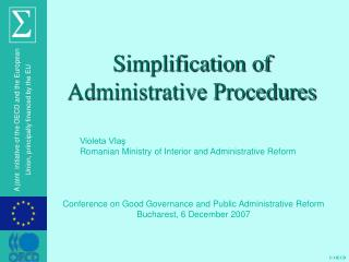 Simplification of Administrative Procedures