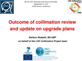 Outcome of collimation review  and update on upgrade plans