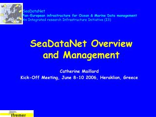SeaDataNet Overview  and Management