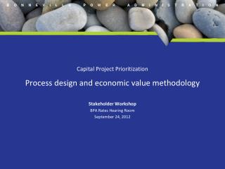 Capital Project Prioritization Process design and economic value methodology Stakeholder Workshop