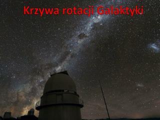 Krzywa rotacji Galaktyki