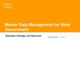 Master Data Management for State Government