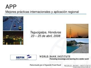 APP  Mejores prácticas internacionales y aplicación regional