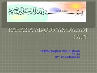RAHASIA AL-QUR'AN DALAM LAUT