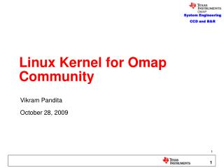 Linux Kernel for Omap Community