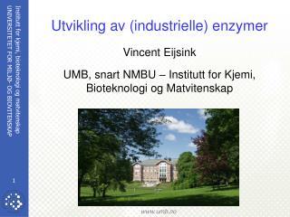 Utvikling av (industrielle) enzymer Vincent Eijsink