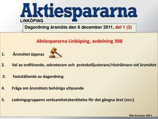 Aktiespararna Link�ping, avdelning 308