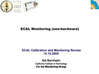 ECAL Monitoring (non-hardware)
