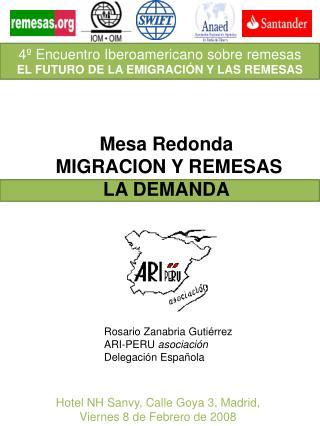Rosario Zanabria Guti rrez ARI-PERU asociaci n Delegaci n Espa ola