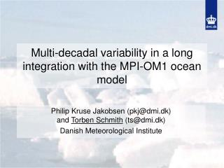 Multi-decadal variability in a long integration with the MPI-OM1 ocean model