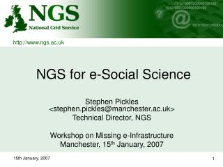 NGS for e-Social Science