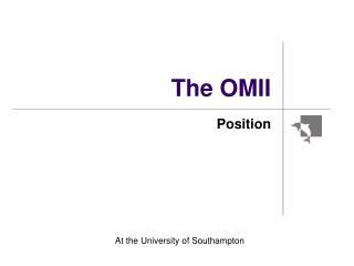 The OMII