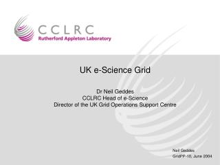 UK e-Science Grid