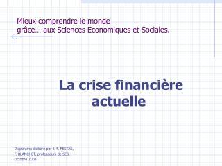 Mieux comprendre le monde  gr ce  aux Sciences Economiques et Sociales.