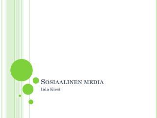 Sosiaalinen media