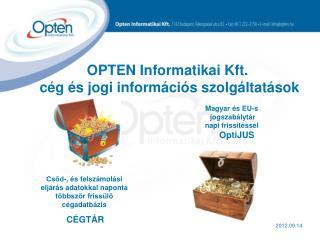 OPTEN Informatikai Kft.  cég és jogi információs szolgáltatások